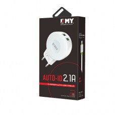 Auto USB Charger EMY 2.1A - my-269